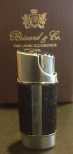 "BRIZARD AND & CO. THE ""NANO"" LIGHTER - EXOTIC CROCO BLACK LEATHER NEW W BOX"