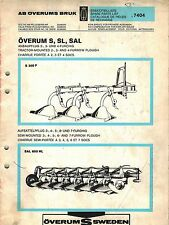 OVERUM S SL SAL  PLOWS PARTS  MANUAL 7404