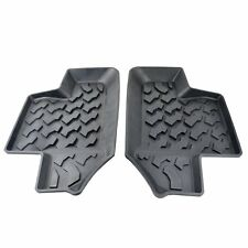 2Pcs Trucks Black Rubber Rear Row Floor Mats Liner Carpets For Jeep Wrangler JK