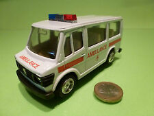 MADE IN HONG KONG MERCEDES BENZ 410 - PULL BACK AMBULANCE - WHITE 1:50? - GOOD