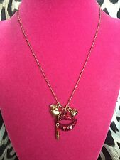 Betsey Johnson Vintage Marilyn Lips KISS ME Lipstick Smooch XOX Necklace RARE