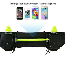 Sport Runner Waist Bum Bag Running Jogging Pouch Belt With 2 Free Water Bottles