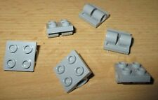 Lego Technik 6x Platte Doppelhalter 2x2 neu hell grau - 2817