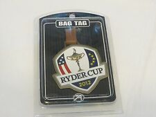 Ryder Cup 2012 Bag Tag VERY RARE PGA Golf collectible shield design USA AHEAD