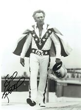 EVEL KNIEVEL  - Signed photo of Knievel in stunt gear.