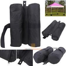 Leg Weights Bag for Pop-up Canopy gazebos Tent Feet Sand Dirt Bag Anchor Black
