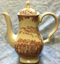 Fox Hunting Hunt Teapot  Myotts China Redware