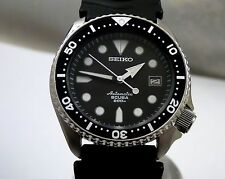Seiko Custom 'Shogun' Scuba 200M Black Dial Diver's Automatic Date Watch 7002