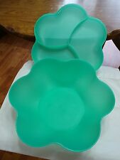 TUPPERWARE IMPRESSIONS CHIP 'N DIP SERVING BOWL with LID (No side dishes) GREEN