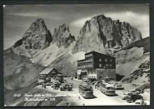 Passo Sella ( Bolzano ) : Albergo Maria Flora - cartolina viaggiata nel 1965