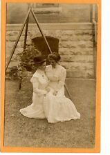 Real Photo Postcard RPPC Affectionate Women One on Lap of Other Woman Lesbian