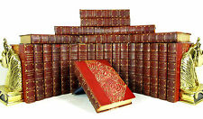 1899 COMPLETE WORKS OF THOMAS CARLYLE 26 VOLS ANTIQUE LEATHER BINDING LTD 30/100
