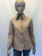 Burberry London women's beige quilted jacket large