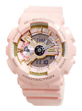 Casio GMAS110MP-4A1 G-Shock Black Rose Gold Analog Digital Pink Resin Band Watch
