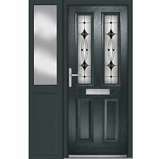 Grey Esteem Composite door and Sidelight