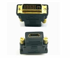 DVI-I MALE (24+5) TO HDMI FEMALE ADAPTER CONNECTOR CONVERTER Gold Plated
