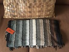 AUTH MISSONI ICONIC ZIGZAG WOOL BLEND SCARF SHAWL WRAP 55x180 BNWT $185