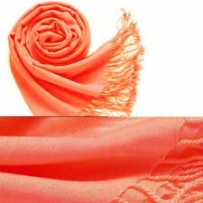 20 Colors Fashion Women Cashmere Silk Solid Long Pashmina Shawl Wrap Scarf Stole