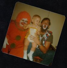 Old Vintage Photograph Two Men in Halloween Costumes Holding Cute Little Baby