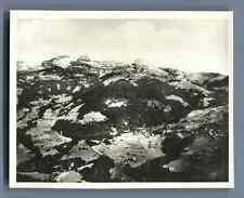 Suisse, Vue sur Le Sépey (980 m.) et Tours d'Aï  Vintage silver print. Swit