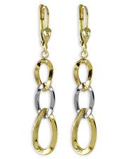 ECHT GOLD *** Ohrringe Ohrhänger bicolor, 49 mm