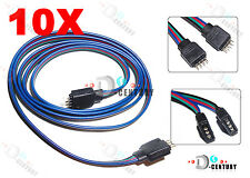 10X RGB 4-Pin Extension Wire Connector Cable Cord For 3528 5050 RGB LED Strip US