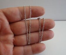 925 STERLING SILVER ROLO DESIGN CHAIN / 18'' LONG / ITALIAN MADE