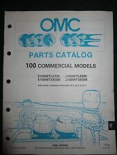 1990 OMC Johnson Evinrude Outboard Parts Catalog Manual 100 HP Commercial