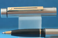 c1978 Sheaffer Targa No. 1001x Rollerball Pen, Brushed Steel with Gold Trim