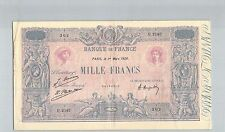 FRANCE 1000 FRANCS BLEU ET ROSE 1 MARS 1926 U.2167 N° 54169302 PICK 67J