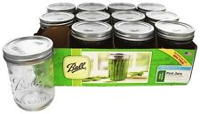 Ball - Wide Mouth 16 oz. Pint Mason Jars Freezer Safe - 12 Count