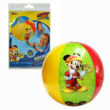 LOT 6 Disney Mickey Mouse Racers Kids Inflatable Pool Beach Balls PARTY FAVORS