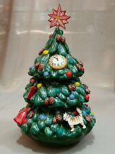 Christmas tree Roly Poly Russian Hand Carved Hand Painted no Nesting Doll Unique