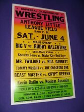 "Pro Wrestling Arena Poster (Florida, 1990s) 14"" x 22"" - Heavy Cardboard Stock"