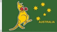 15991 BOXING KANGAROO FLAG AUSTRALIAN AUSTRALIA DAY AUSSIE FLAG POLE GREEN GOLD