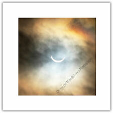Greetings Card Birthday / Blank Notelet - 2015 Solar Eclipse Astronomy Sun Moon