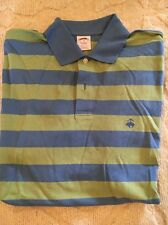 Brooks Brothers Regular Fit Polo, Size M, Blue And Green Stripe