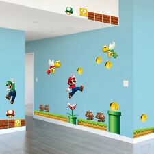 Super Mario Bros Cartoon Wall Sticker Decals Vinyl Art Kids Room Nursery Decor