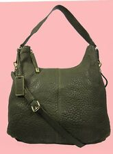 VINCE CAMUTO RILEY Olive Leather Hobo Shoulder Bag Msrp $278
