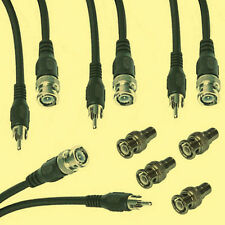4 x BNC CINCH VIDEO KABEL und 4 x BNC Adapter - SET - ohne Versandkosten in D