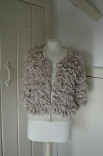 RIVER ISLAND - Follow Your Dreams Knitted Boucle Wool Cardigan Jacket  - S 10