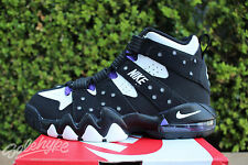 NIKE AIR MAX CB 94 GS SZ 4 Y BARKLEY BLACK WHITE PURE PURPLE 309560 007