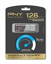 NEW PNY 128GB Turbo Attaché 2 Flash Drive USB 3.0 P-FD128TB0P-GE Free Shipping