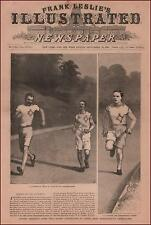 TRACK, Championship Games, Walking Race, Long Distance, antique engraving 1888