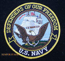 US NAVY DEFENDERS OF OUR FREEDOM PATCH BALD EAGLE USS CONSTITUTION GIFT SAILOR