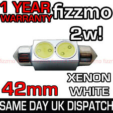 HIGH POWER 2w SMD LED 264 42mm WHITE NUMBER PLATE INTERIOR LIGHT FESTOON BULB UK