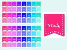 Student Banners Planner / Calender Stickers, 2 Sheets, 64 Kiss Cut Stickers