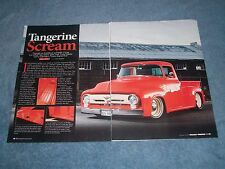 "1956 Ford F-100 Pickup Resto-Rod Article ""Tangerine Scream"" F100"