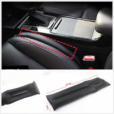 2 Pcs Car Black PU Leather Holster Car Seat Pad Gap Spacer Filler Pad Leak proof