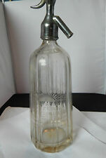 Art Deco Pre filled Soda Siphon Fylde Direct St Annes on sea 1930's glass/chrome